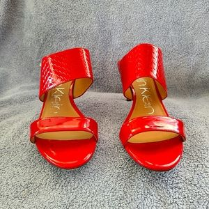 Calvin Klein Cecily Patent Leather sandals